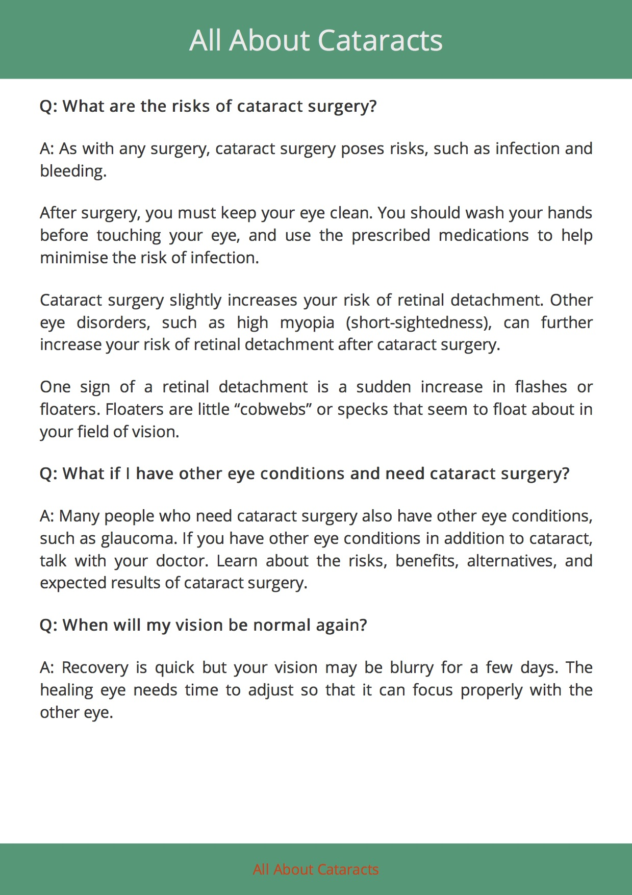 All About Cataracts 11