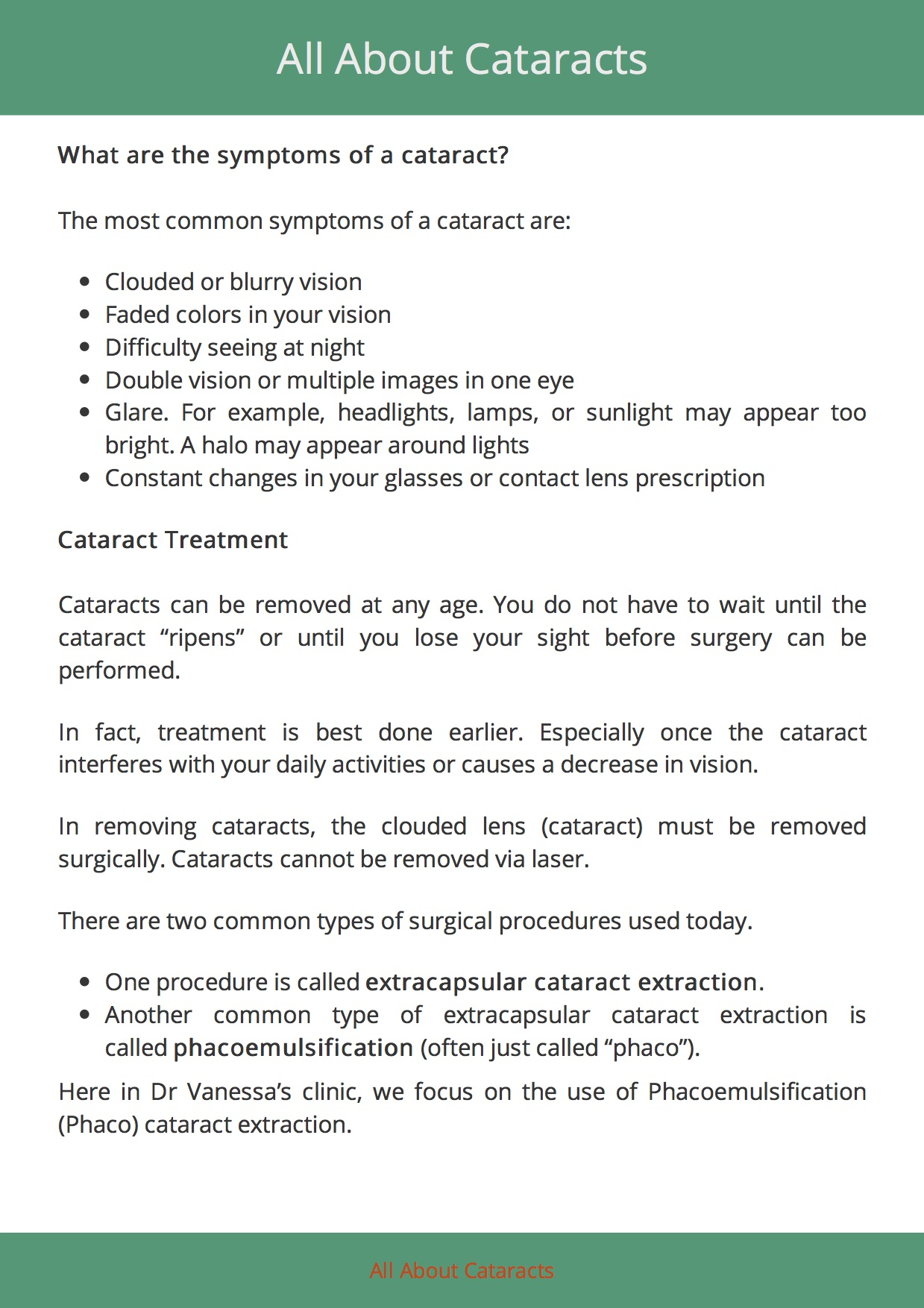 All About Cataracts 5